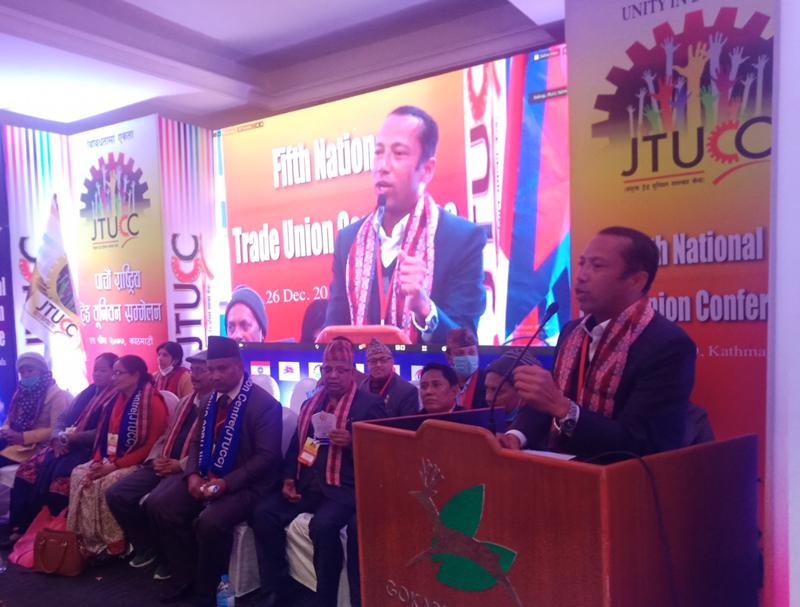 JTUCC Parliament Meeting Concludes Electing Jagat Simkhada as New JTUCC President